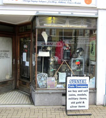 Sussex Coins shop front